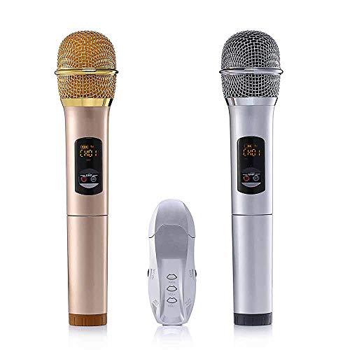 Cikuso 2 Stücke Uhf Wireless Mikrofon Bluetooth 3.0 Karaoke Mikrofon Für Ios Android Smartphone Computer Für Treffen Klasse Rede Uhf Mobile