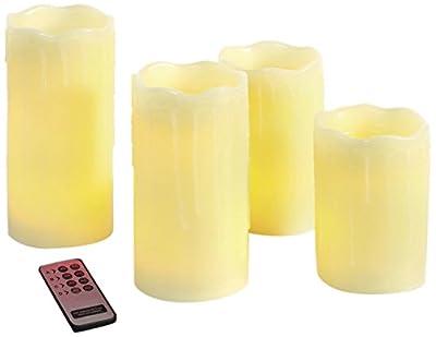 Brauns Heitmann LED-Echtwachs-Kerzen mit Fernbedienung, 4-er Set 58803
