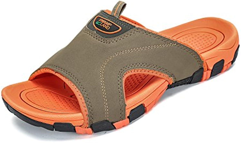 Putu - Zuecos para Hombre, Color Naranja, Talla 43 EU -