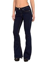 by-tex Jean femme bootcut Jean taille basse pantalon en jean femme actuelles designs AA