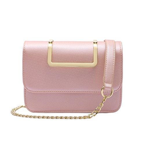 Sacchetto Di Cinghia Della Catena Della Spalla Della Mini Borsa Delle Donne,Pink Pink