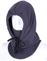 Smile YKK invierno Unisex cara sombrero Fleece Capucha Cálido De Esquí Casco pasamontañas máscara sombrero