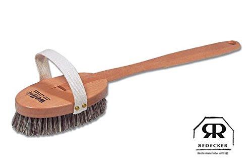 Redecker Wellfit Brosse de bain, forme droite avec ruban en coton