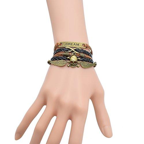 temps-usurier-bronze-skeletion-tete-de-mort-ailes-dange-drem-bracelet-reglable