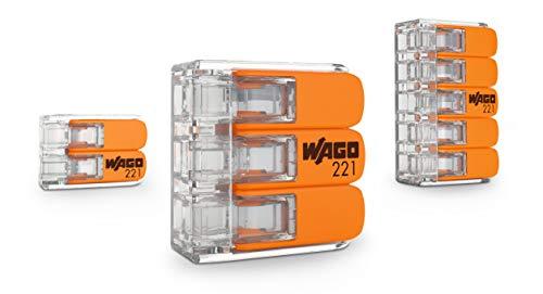 WAGO 221-412/996-016 Compact-Verbindungsklemme, Transparent (16-er Pack)
