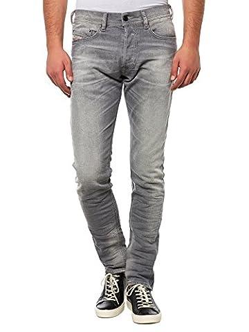 Diesel Tepphar 0839N_Stretch Herren Jeans Hose Slim Carrot (W28/L30, Grau)