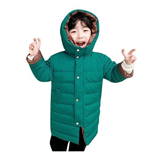 Kobay- Mädchen Kinder Kinder Winter Cartoon Dinosaurier Warme Mädchen Kapuzenjacken Oberbekleidung Mäntel (120/4-5 Jahre, Blau)
