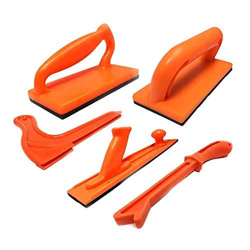 SODIAL Holz Bearbeitungs Werkzeuge 5 S?tze Kunststoff Tisch Kreis S?gen Sto? Block Und Stock Paket