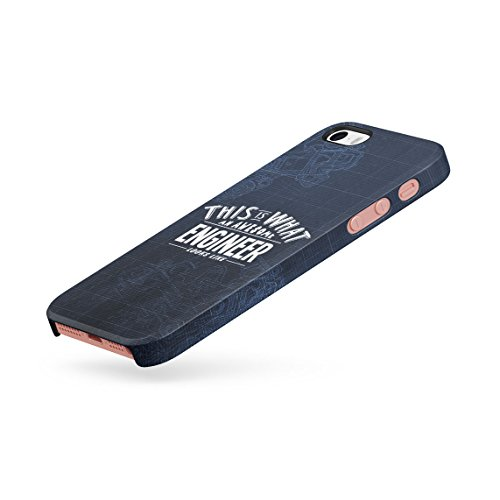 Trust Me I Am An Engineer Dünne Rückschale aus Hartplastik für iPhone 5 & iPhone 5s & iPhone SE Handy Hülle Schutzhülle Slim Fit Case cover Awesome Engineer