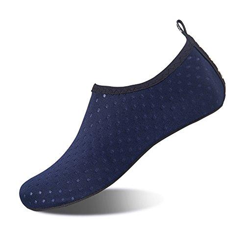 Scarpe da Immersione Scarpette da Bagno Mare Spiaggia Antiscivolo Scarpe Acqua Pantofole da Casa per Beach Surf Swim Yoga Scarpe a Piedi Nudi dell'Acqua Scarpe Acquatici per Donna Uomo(Blu 40 41)