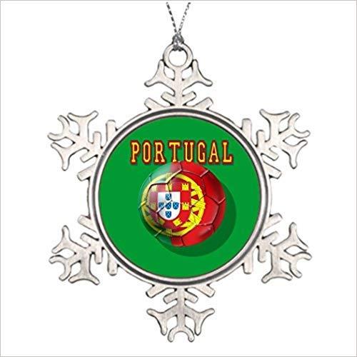 a Por portugiesisches Weihnachtsdekoration, Schneeflocken-Ornamente 2018 Weihnachtsbaum-Hänge-Geschenk ()