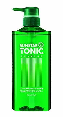 Sunstar Tonic Scalp Clear Shampoo - 520ml (Green tea Set) (Green Tonic Tea)