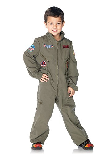 Flight Top Kostüm Gun - Leg Avenue 199022 Top Gun-Flight Suit Kleinkind-Kind-Kost-m