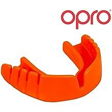Protector bucal Para Niños OPRO Snap-Fit Colocación instantánea - Para rugby, hockey, artes marciales mixtas, lacrosse, fútbol americano, baloncesto y más - Fabricado en Reino Unido (Naranja)