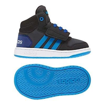 adidas Unisex Baby Vs Hoops Mid 2.0 Sneaker, Grau (Carbon/Bright Blue/Core Black), 27 EU Jungen Schuhe Adidas Basketball
