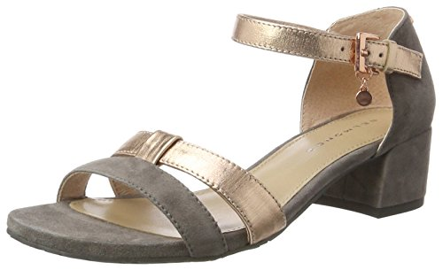 Belmondo Pumps-Damen, Chaussures Compensées Femme Grau (taupe combi)