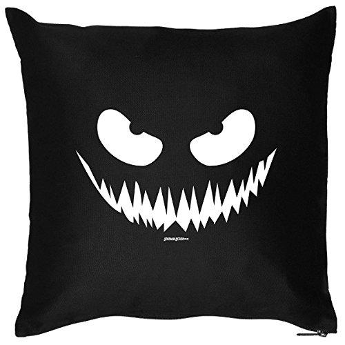 Gruseliges Halloween Fun Kissen mit Füllung: Kürbis Smiley! - Dekokissen/Couchkissen - Goodman Design ®