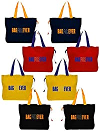 Bagforever Shopping Bag Reusable Grocery Bag Foldable Polyster Tote Long Handle Washable Large Size Heavy Duty... - B07GCJ5HNR