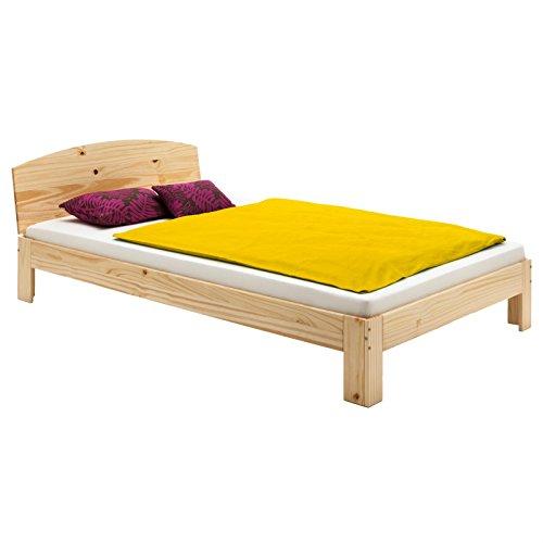 IDIMEX Holzbett Einzelbett Bett Tim Kiefer massiv Natur lackiert 100 x 200 cm (B x L) -