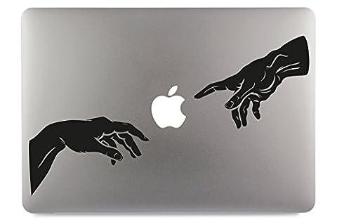 Michelangelo Erschaffung Adams Apple MacBook Air Pro Aufkleber Skin Decal Sticker Vinyl (13