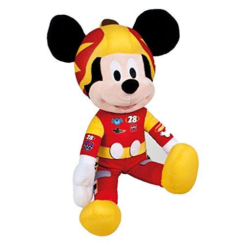 Ousdy - Peluche Mickey & Minnie Mouse Pilotos de Carreras Disney 35cm 760015450 (MICKEY MOUSE)