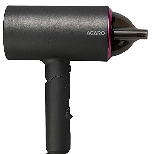 AGARO HD-1214 Premium Hair Dryer with 1400-Watt Motor, 3 Temperature Settings & Cool Shot Button (Black)