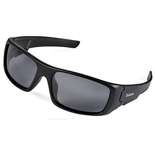 Duduma Gafas de Sol Deportivas Polarizadas Para Hombre Perfectas Para Esquiar Golf Correr Ciclismo TR601 Súper Liviana Para Hombre y Para Mujer (marco mate negro con lente negro)