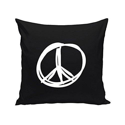 Peace Frieden Zeichen, schwarz-weiss ()