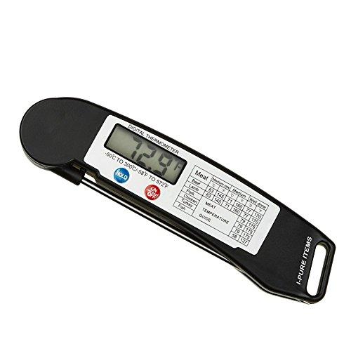 i-pure Artikel TM hoher Qualität sofort Lesen Digital Lebensmittel Thermometer mit Sonde, zusammenklappbar, Falten Auto Switch Fleisch Thermometer für Grill, Grill, Ofen, Kochen