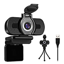 LarmTek USB Webcam 1080p with Cover,Webcam for Pc,Desktop,Laptop,Streaming Webcam Built in Mic,Plug and Play Video Calling Computer Camera,Computer Camera for Gaming and Conferencing