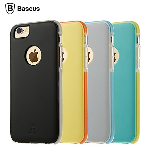 Hard Case BASEUS Jump complet Wrap TPU PC Cover for Apple iPhone 6 Plus 6S Plus 5,5 pouces jaune