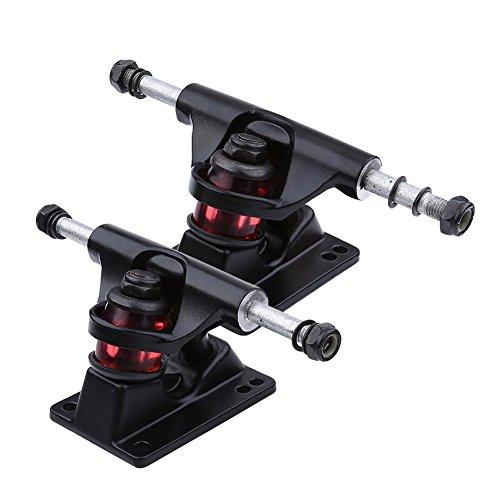 Achsen für Skateboard 2er Set aus Magnesium- und Alulegierung ( Farbe : Schwarz )