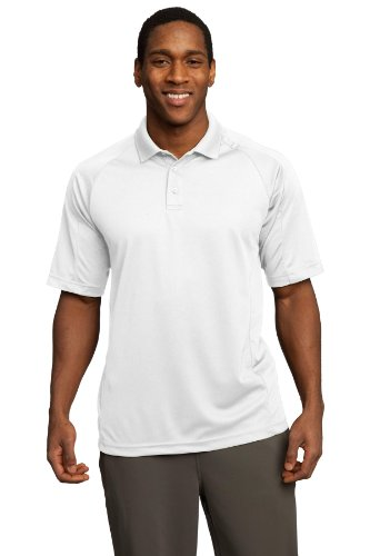 Sport-Tek Herren Poloshirt Weiß - weiß