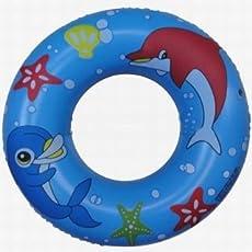 BLT Inflatable Floating Swim Ring 80 CM Diameter Swimming Pool Tube