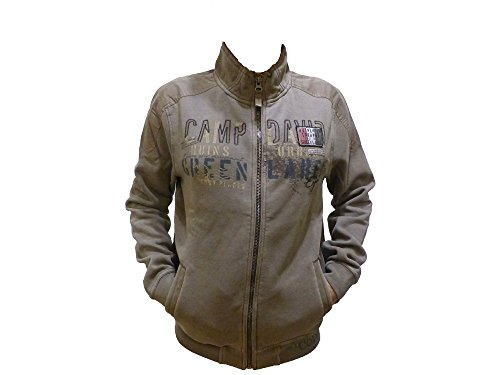 Camp David Sweat Shirt Lost Places II Old Khaki Sweatjacket CCG-1807-3649 (XXXL)