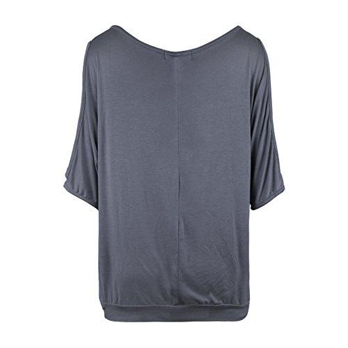 Kinikiss Damen Bandeau T-Shirt Gr. Grau