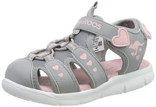 KangaROOS K-Mini Sandali Unisex Bambini, Grigio (Vapor Grey/English Rose 2043), 23 EU