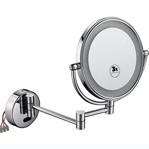 LED beleuchteter Spiegel - schöner Schminkspiegel mit Lichtern - LED beleuchteter Schminkspiegel ist Ausgezeichnet für Make-up, Make-up Schminktisch an der Wand befestigter beleuchteter Spiegel