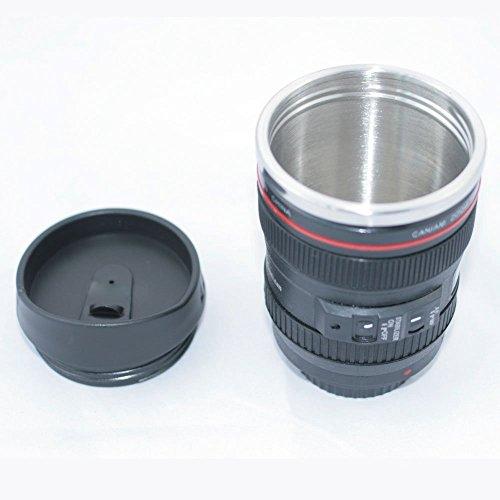 Foto de SODIAL(R) 24-105 mm Viajes Cafe Taza / taza / termo con lente de Calidad de acero inoxidable Interior