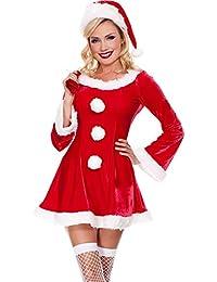 MissFox Costume Da Babbo Natale Donna Miss Santa Per Natale Feste O Party