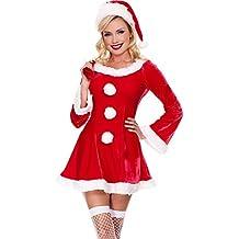 MissFox Costume Da Babbo Natale Donna Miss Santa Per Natale Feste O Party 8dff4488c2e