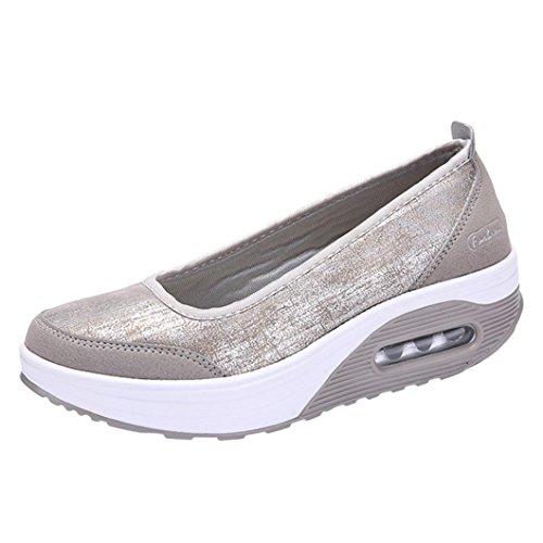 03760a992ac Overdose-Chaussures Platform Trainers Femme Tennis à Enfiler Pas Cher  Baskets à Talons Plates Soldes