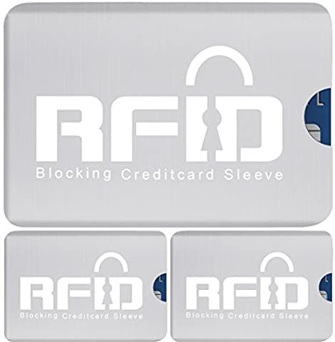 100% Protection # 1 Wireless RFID Document Safe RFID Card Case Set (3 Pieces) Identity and Data Theft, NFC & RFID Radio. Readout Protection for 10, & Credit Cards. Easy & Stain Resistant.