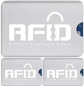 #1 Funk-Chip RFID Kartenschutzhüllen SET (3 Stück) mit 100 ...