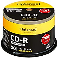 Intenso CD-R Rohlinge 700MB 52x 50er Spindel Cakebox bedruckbar