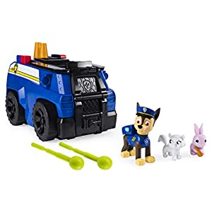 PAW PATROL 6053389 Chase's Ride 'n' Rescue, Transforming 2-in-1 Playset and Police Cruiser, for Kids Aged 3 and Up, Multicolour