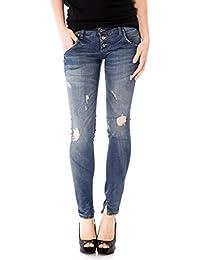 PLEASE - P83 femme jeans pantalon slim fit avec détails destroyed