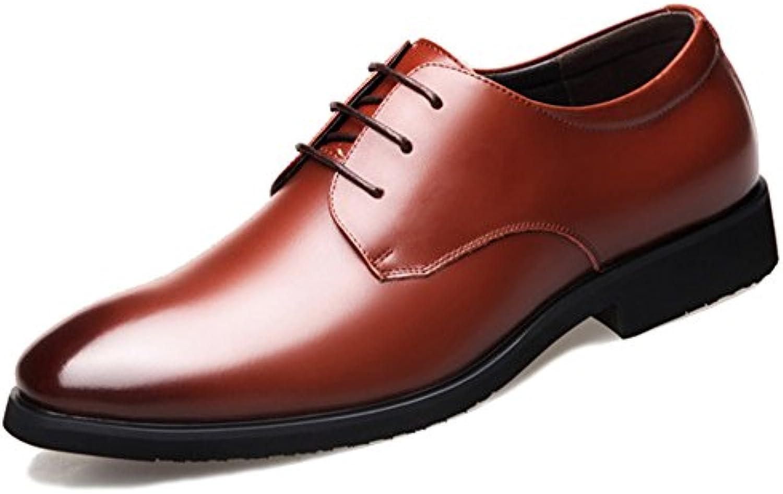 MERRYHE Klassische Round Toe Echtes Leder Derby Schuhe Für Herren Soft Wedding Lace Ups Schuh Party Business Formale