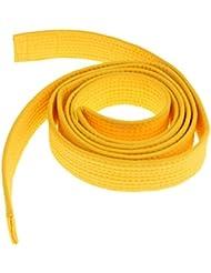 8 Couleurs Ceinture Taekwondo Arts Martiaux en Polyester-Coton Surpiquée Multiples Rangées Couture Super Epaisse Robuste - Jaune, 220cm