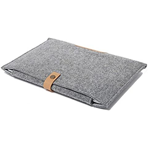 iDream – Funda Funda de feutré de lana para Apple MacBook Air Mac de 11 pulgada (13 pulgada MacBook Pro Retina 13 15 pulgada gris Gris classique pour Macbook